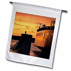 Danita Delimont - Boats - Massachusetts, Marthas Vineyard Ferry at dusk - US22 WBI0097 - Walter Bibikow - 18 x 27 inch Garden Flag (fl_90952_2)