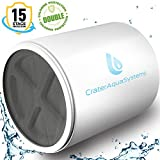 15 Stages Shower Water Filter - remove Chlorine Fluoride Lead - 2 Cartridge Replacement for Showerhead filters - Filtered showers head softener for hard water (15 Stages Replacement Cartridge)