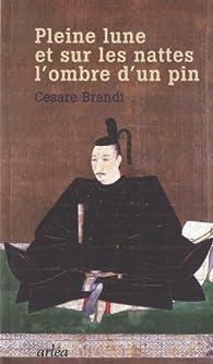 Pleine lune, et sur les nattes, l'ombre d'un pin : Un historien de l'art en Asie par Cesare Brandi