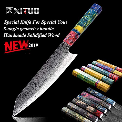 Best Quality Kitchen Knives 8 Inch Cleaver Knife Japanese Damascus Stainless Steel PRO Cooking Tools Chef Kitchen Knife Damascus Meat Salmon Slicing k
