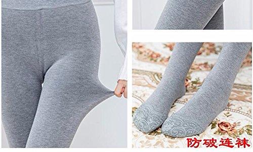 GBHNJ Leggings Femmes Grande Taille Transparente Plus Épais Étape Sur Le Pied Slim LAutomne Et LHiver Peut Se Porter À LExtérieur Noir Thermique F(Poids Approprié 80-130 Catty)