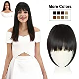 REECHO Fashion One Piece Clip in Hair Bangs / Fringe / Hair Extensions / Hairpieces Color - Black Brown