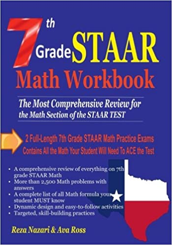 7th Grade STAAR Math Workbook 2018: The Most Comprehensive