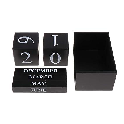 non-brand Baoblaze Calendario de Escritorio Perpetuo ...