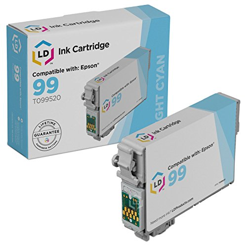 LD Products Remanufactured Ink Cartridge Replacement for Epson 99 ( Cyan - 99 Ink Light