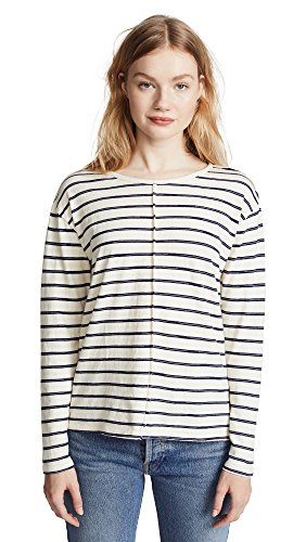 J Brand Women's Remy Tee, Catalina Stripe, Small by J Brand Jeans