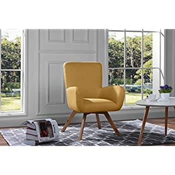Mid Century Modern Living Room Chair / Accent Armchair (Yellow) Part 61