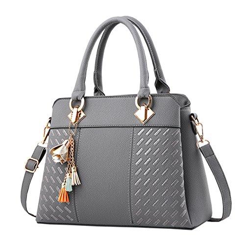 Womens Fashion PU Leather Purses and Handbags Satchel Tote Top-Handle Bags ()
