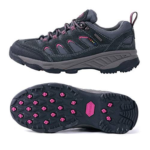 TFO Women's Lightweight Non-Slip Hiking Shoes Breathable Running Camping Outdoor Sports Trekking Shoes Sneakers (8 B(M) US = Foot Length 9.84in, Deep Gray)