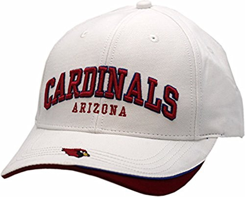 Arizona White Sport Hat (Apparel Arizona Cardinals Buckle Back Hat Arched Twill)