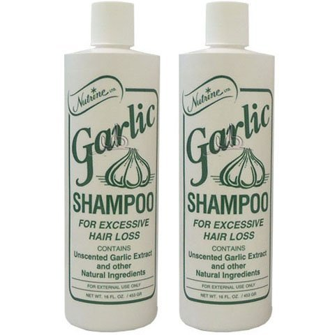 - Nutrine Garlic Shampoo Unscented 16oz (Pack of 2)