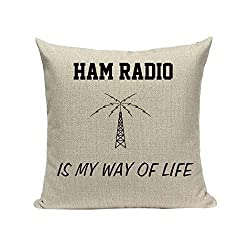 Ham Radio Pillowcases, Cushion covers, throw pillow covers, Pillow Cover 16x16