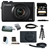 Canon PowerShot G7 X Digital Camera with Canon PSC-5300 Deluxe Leather Case + 32GB Accessory Kit