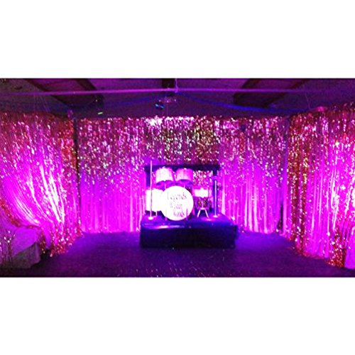AZOWA Metallic Purple Foil Fringe Curtain Shiny Photo Background Party Decoration 3.2 ft X 9.8 ft (Birthday Store Near Me)