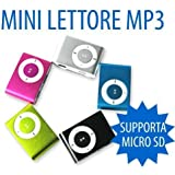 MINI LETTORE MP3 MEMORIA ESPANDIBILE FINO 4GB