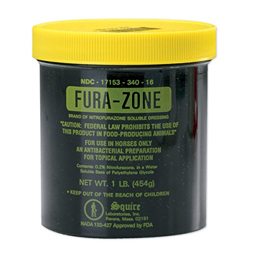VAN NESS PLASTIC MOLDING Fura-Zone Ointment for Horses, 1 Pound Container