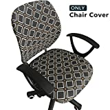 Meloshow Computer Office Chair Covers - Protective & Stretchable Universal Chair Cover Stretch Rotating Chair Slipcover
