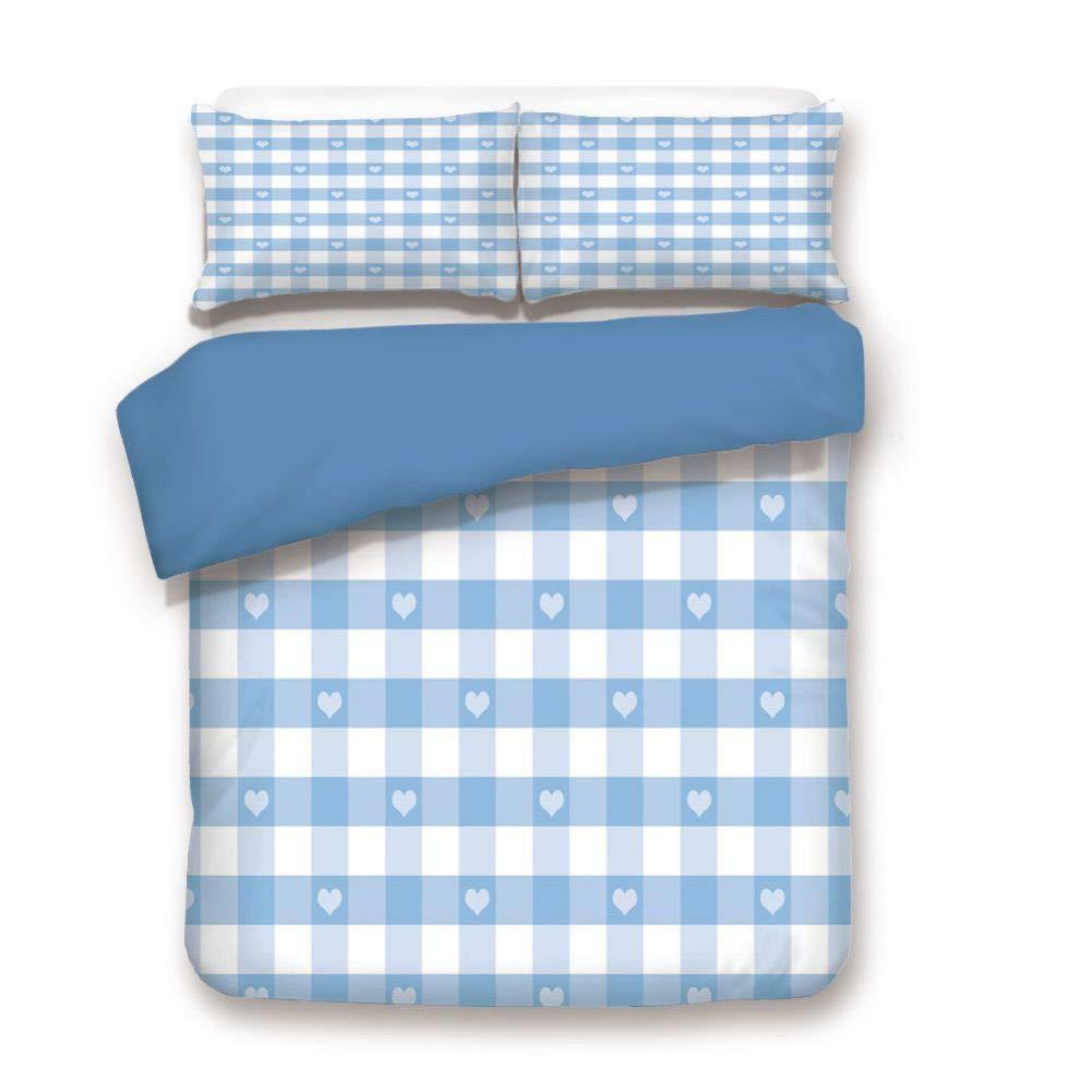 掛け布団カバーセット 装飾寝具3点セット 枕カバー2枚付き マルチカラー フル BD2-88-3871C27-203*228 B07P8LZV9F 色#27 フル