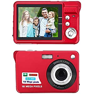 Digital Camera,2.7 Inch HD Camera for Backpacking Rechargeable Mini Camera Students Cameras Pocket Cameras Digital with…