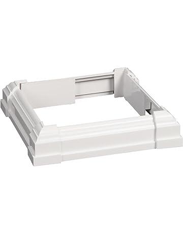 decking sleeves wraps trim amazon building supplies Deck Rails Ideas Prairie Style crown column post trim collar 1 each