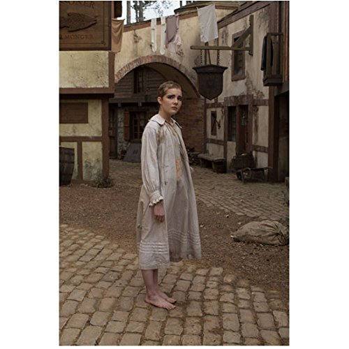 Salem (TV Series 2014 - ) 8 Inch x10 Inch Photo Elise Eberle in Stained Spotless Nightshirt on Cobblestones kn
