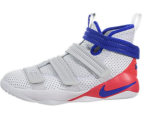 newest 444e3 1f923 NIKE Lebron Soldier Xi SFG (Kids) White Racer Blue-Infrared Size 6 US Youth