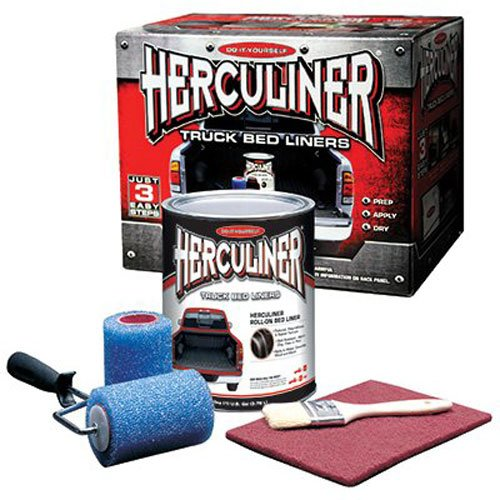 Herculiner HCL1B8 Brush-on Bed Liner Kit (Best Paint To Use On Aluminum Boat)