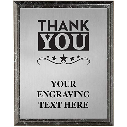 Corporate Employee Recognition Plaques - 6 x 8 Thank You Etched Recognition Trophy Plaque Award