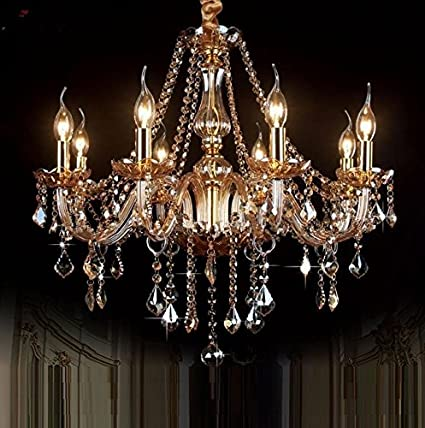 Gowe 8 bracci moderno lampadario LED Abajur para quarto Lustres de sala  breve arte candela lampade