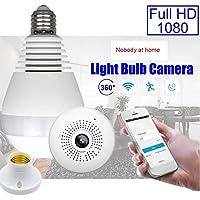xlpace 360 Degree Panoramic 1080P Hidden IR Light Bulb Camera WIFI FishEye CCTV Security