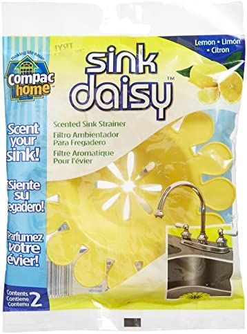 Pack of 2 Compac Sink Daisy Scented Strainer Lemon