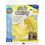 Compac's Sink Daisy, Scented Kitchen Sink Strainer - Infuses and Freshens Your Sink With Crisp, Clean, Exciting Scents, While Protecting Garbage Disposals & Drains, Lemon, 2 Count