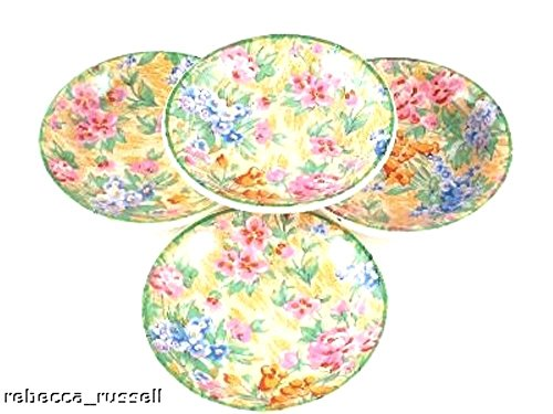 Set 4 Barker Bros Tudor Ware Chintz Trinkets Coasters or small dishes