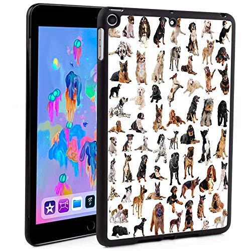 iPad 5th/6th Generation Case,Picture with Purebred Dogs Australian Sheepdog Belgian Boxer Italian Mastiff Pedigree Print iPad Fold Stand Cover Print (Custom Pattern iPad Mini 5 ()