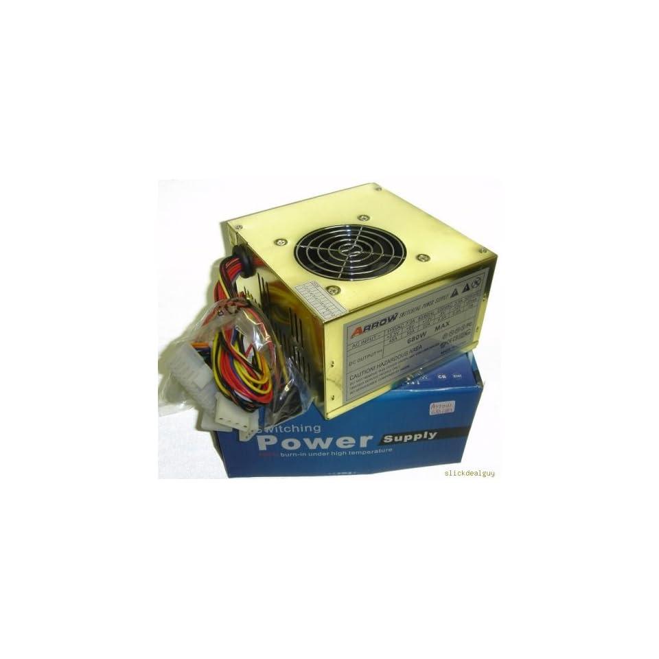 Gold 680w ATX Sata Amd/p4 Dual Fan Power Supply 20 24 Pin Electronics