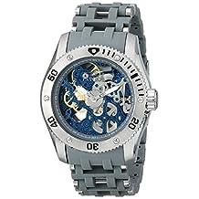 Invicta Men's Sea Spider Mechanical Skeleton Dial Grey Polyurethane Watch INVICTA-1256