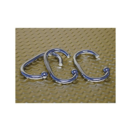 Ex-Cell Shower Curtain Hooks Metal Brushed Nickel ()