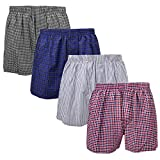 Falari 4-Pack Men's Boxer Underwear 100% Cotton Premium Quality (M 32-34, Group 1)