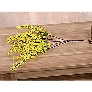 MARJON FlowersWinter Jasmine Flower Fake Silk Artificial Flowers Home Festival Wedding Decoration 1PCS 5 Bifurcations 63
