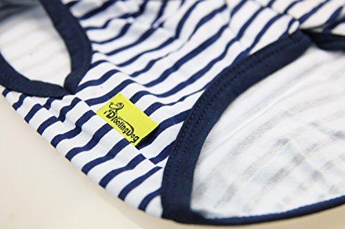 3 DroolingDog+Small+Clothes+Striped+Tshirts