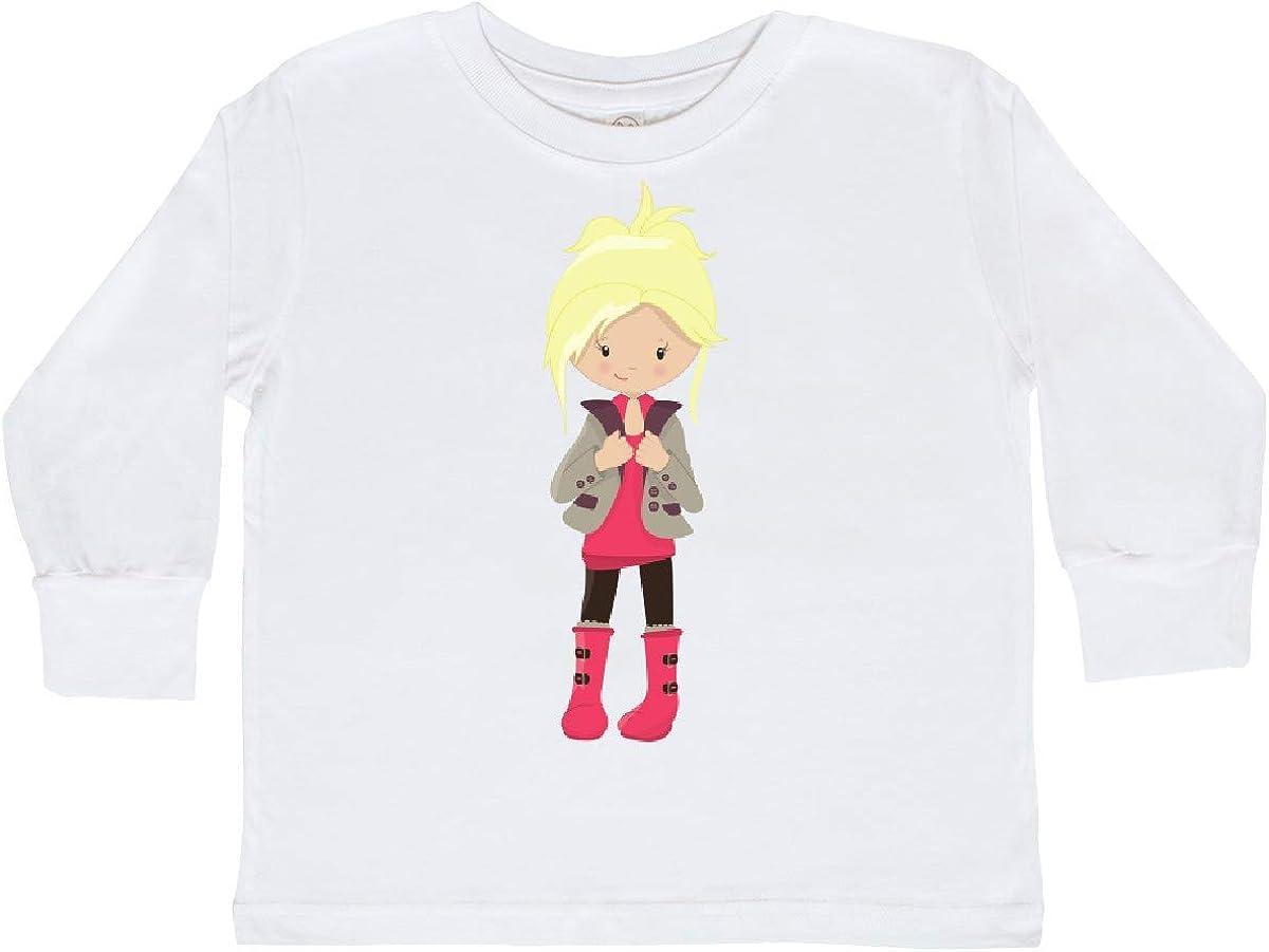inktastic Fashion Girl Blonde Hair Toddler Long Sleeve T-Shirt Brown Leggings