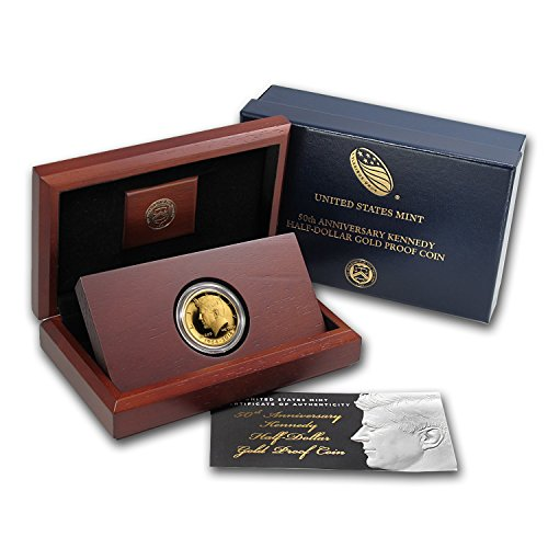 2014 W 3/4 oz Gold Kennedy 1/2 Dollar Commem Proof (w/Box & COA) Gold Brilliant Uncirculated