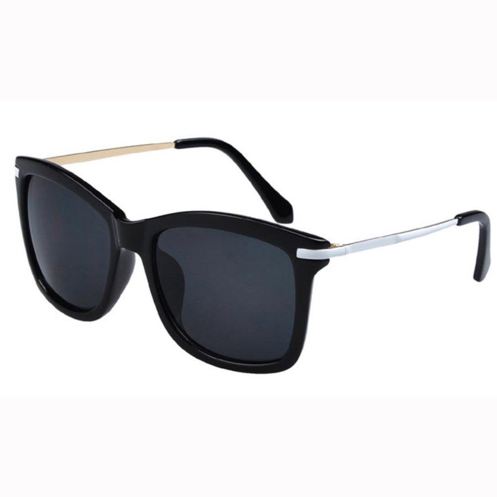 Qingsun Moda Gafas de Sol Fashion Sunglasses Montura de Metal Protección de Ojos para Mujer Negro