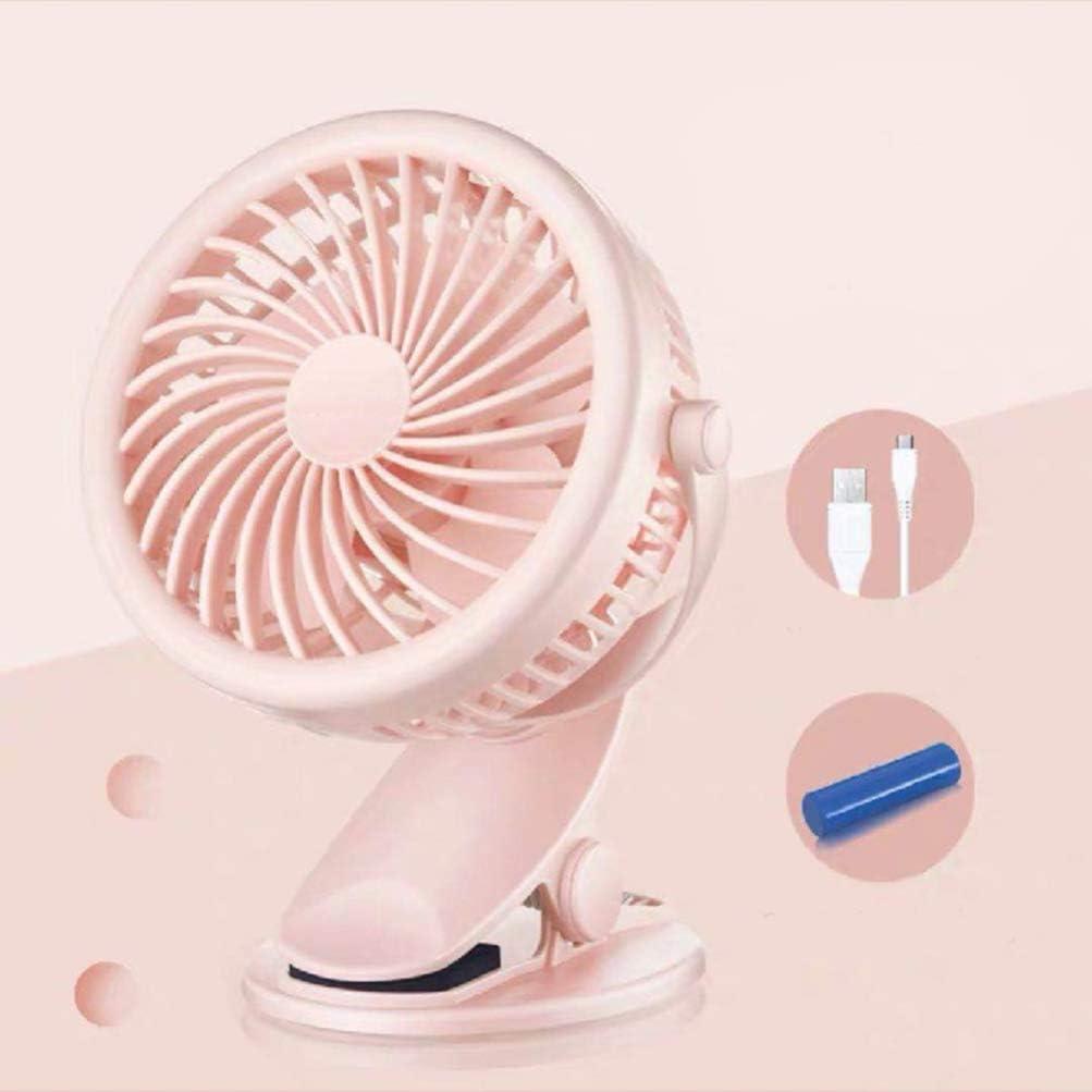 Pink BESPORTBLE Clip On Mini Desk Fan Portable Fan USB Fan for Baby Stroller Office Bed Desk Headboard Outdoors