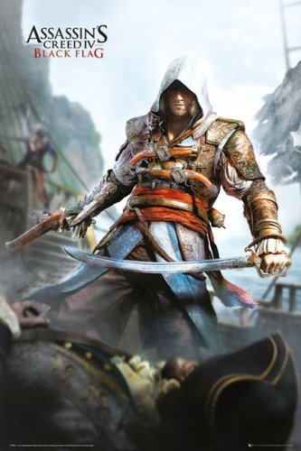 """Assassin's Creed IV: Black Flag - Gaming Poster (Cover) (Size: 24"""" x 36"""")"""