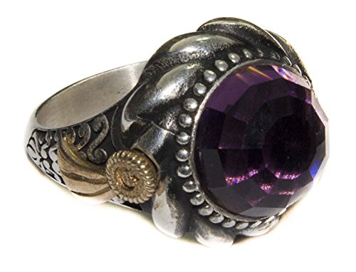 Sterling silver men ring handmade, created-amethyst stone, Express Shipping