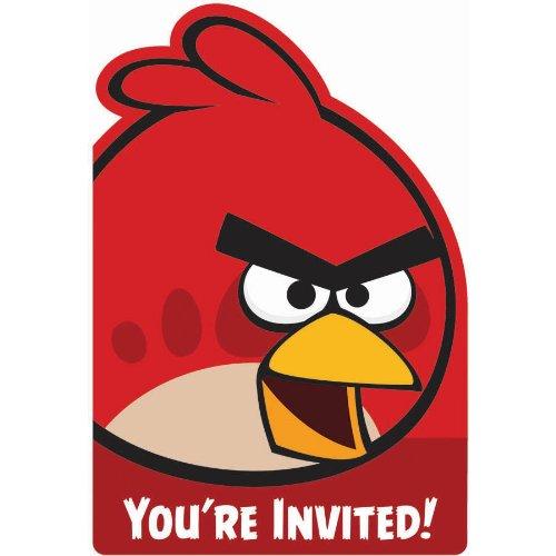 Angry Birds Invitations (8) Invites Birthday Party Supplies (Angry Party Invitations Birds)