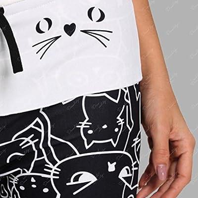 Womens High Waist Leggings Yoga Pants Pajama Pants Palazzo Lounge Pants: Clothing