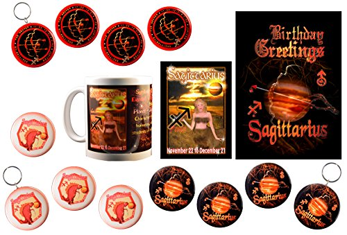 Sagittarius Super Mug Bundle Born 11/22 to 12/21 + 15 15 Items