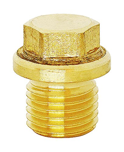 (1pc) BelMetric M14X1.5 Flanged Brass Hex Head Corrosion Resistant Plug DIN 910 for Machinery and Fittings, Sealing Washers Included DP14X1.5HBRS